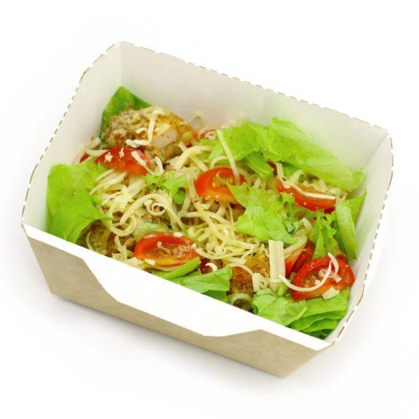 Салат с курицей темпура